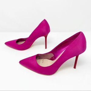 Zara | Hot Pink Point Toe Pumps Sz US 8